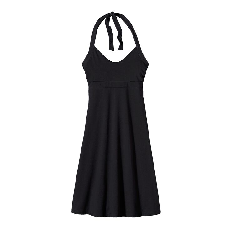 W'S ILIANA HALTER DRESS, Black (BLK)
