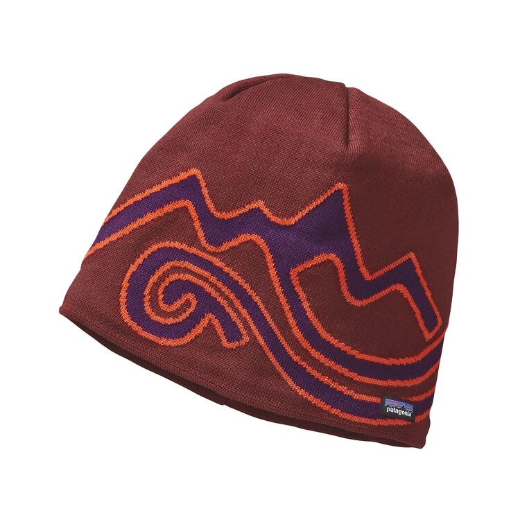 LINED BEANIE, Mountain Rivers: Cinder Red (MTCI)