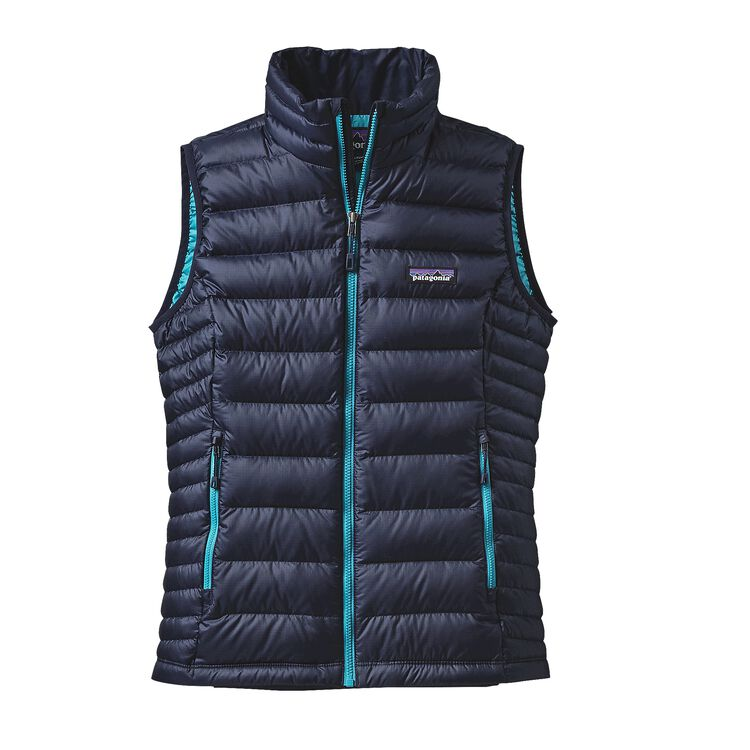 W'S DOWN SWEATER VEST, Navy Blue w/Epic Blue (NBEB)