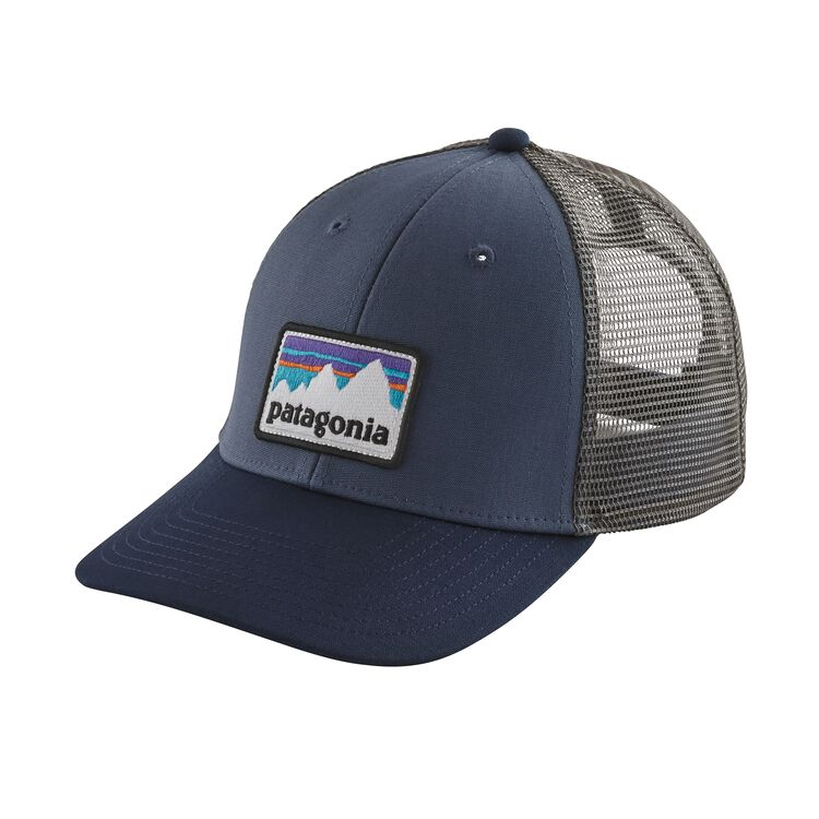 SHOP STICKER PATCH LOPRO TRUCKER HAT, Dolomite Blue (DLMB)