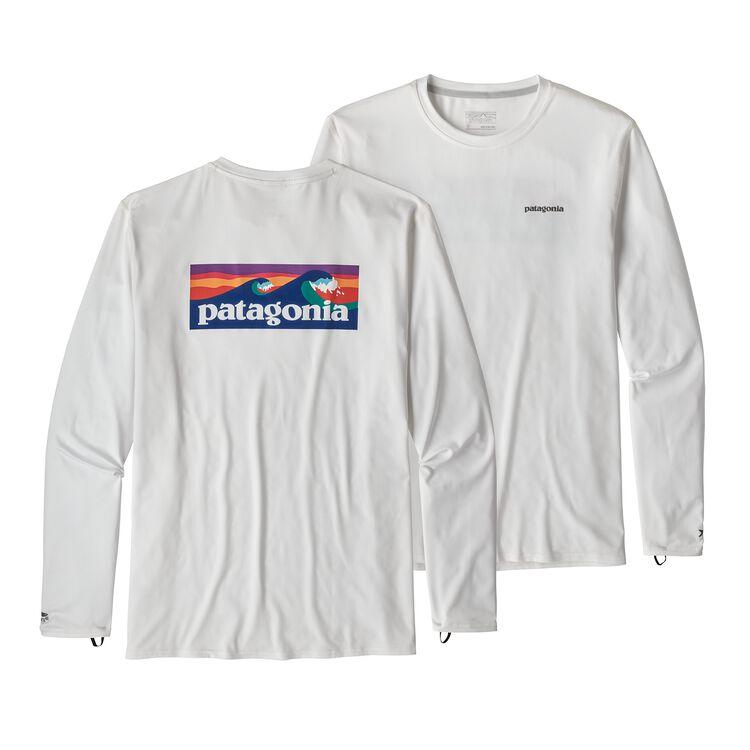 M'S L/S R0 SUN TEE, Boardshort Logo: White (BOLW)