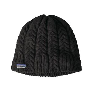W'S CABLE BEANIE, Black (BLK)