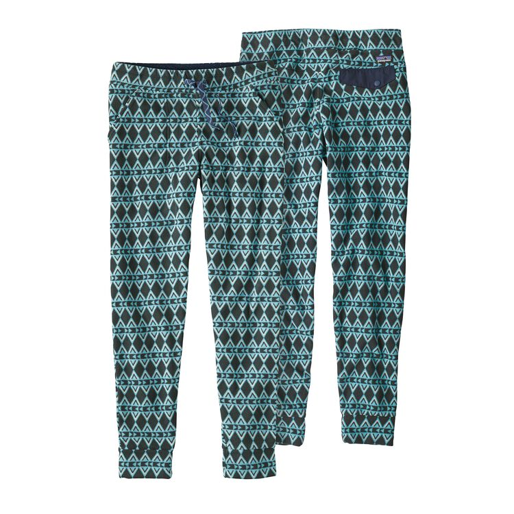 W'S SNAP-T PANTS, Brass Hawk Small: Crevasse Blue (BSWC)