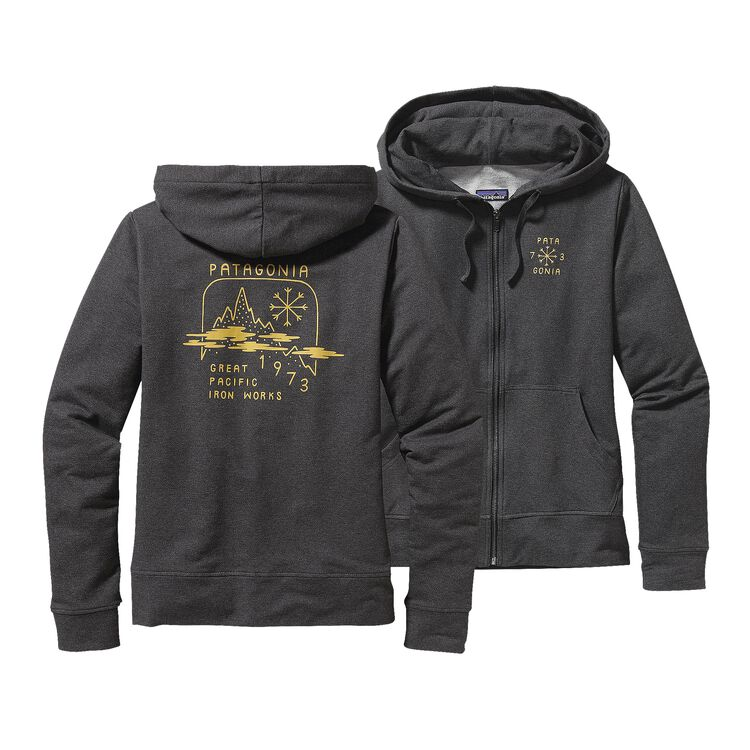 W'S SNOW BELT MW FULL-ZIP HOODED SWEATSH, Black (BLK)
