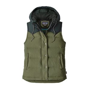 W's Bivy Down Hooded Vest, Buffalo Green (BUFG)