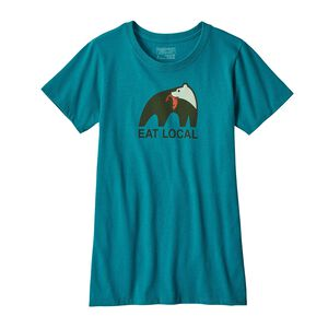 W's Eat Local Upstream Cotton/Poly Responsibili-Tee® , Elwha Blue (ELWB)