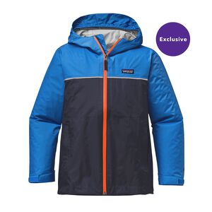 Boys' Torrentshell Jacket, Navy Blue w/Andes Blue (NVAB)