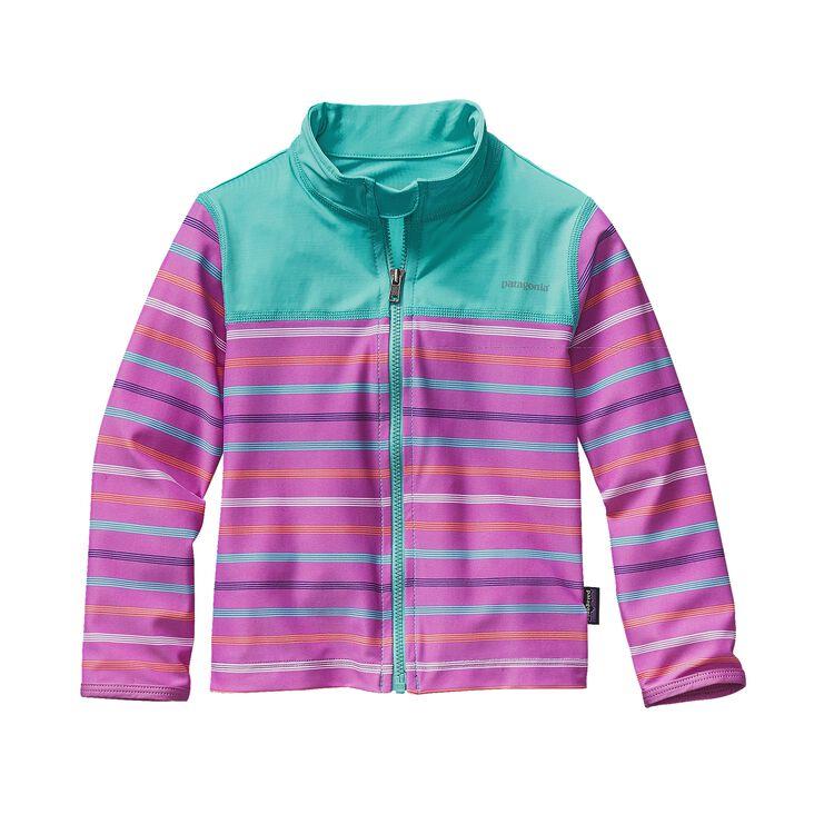 BABY LITTLE SOL RASH JKT, Kayla Stripe: Mock Purple (KYMP)