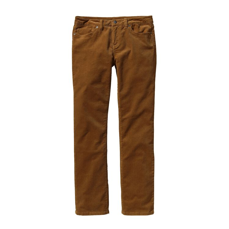 W'S CORDUROY PANTS - SHORT, Bear Brown (BRBN)
