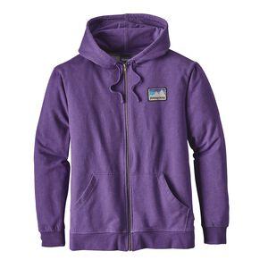 メンズ・ショップ・ステッカー・パッチ・ミッドウェイト・フルジップ・フーディ, Purple (PUR)