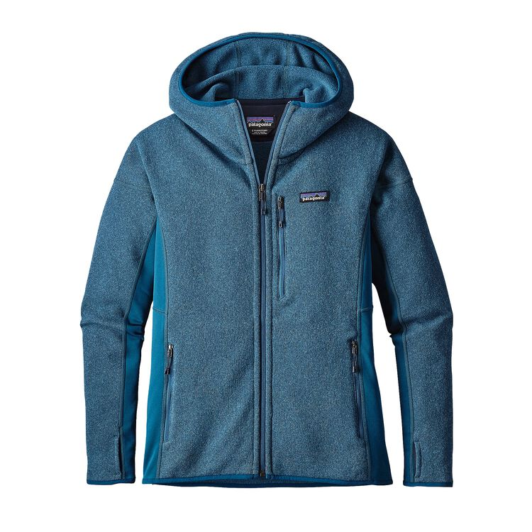 W'S PERFORMANCE BETTER SWEATER HOODY, Big Sur Blue (BSRB)