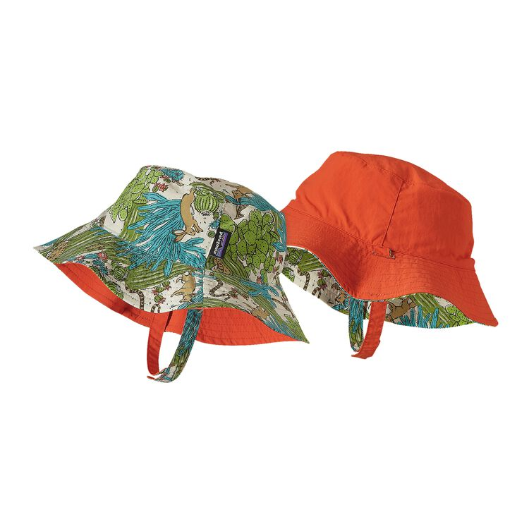 BABY SUN BUCKET HAT, Cactus Critters: Howling Turquoise (CCHW)