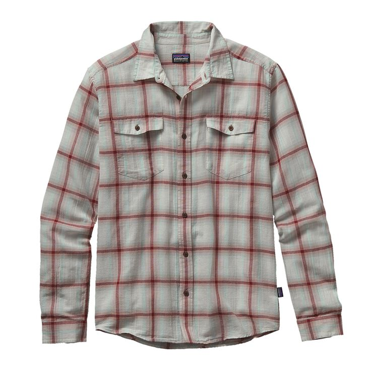 M'S L/S STEERSMAN SHIRT, Hazy: Drumfire Red (HZDF)