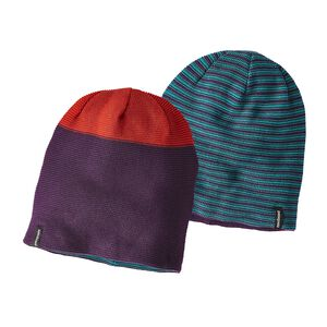 GLADE BEANIE, Blocked Stripe: Purple (BCKP)