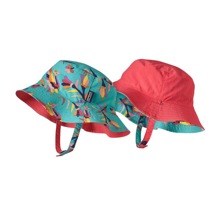 BABY SUN BUCKET HAT, Folk Tails: Howling Turquoise (FHTQ)