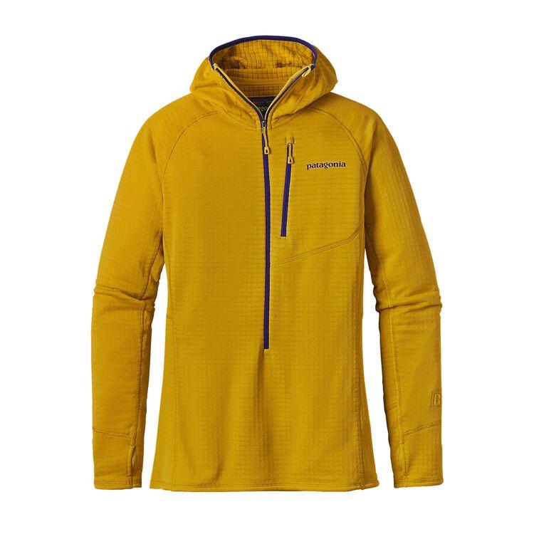 W'S R1 HOODY, Sulphur Yellow (SULY)