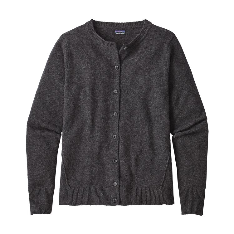W'S RECYCLED CASHMERE CARDIGAN, Forge Grey (FGE)