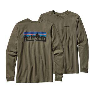 メンズ・ロングスリーブ・P-6ロゴ・コットン・Tシャツ, Industrial Green (INDG)