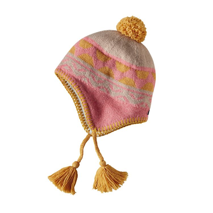 K'S WOOLLY HAT, Foot Trail Beanie: Indy Pink (FOIP)
