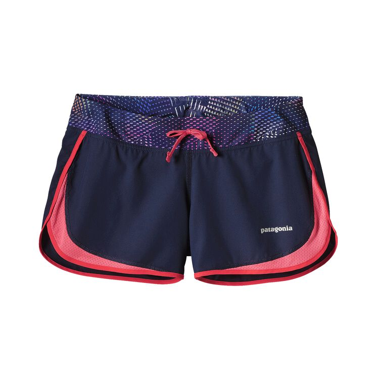 W'S STRIDER SHORTS, Navy Blue w/Shock Pink (NYSP)