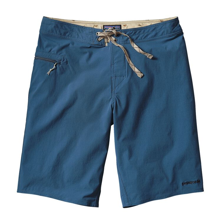 M'S STRETCH WAVEFARER BOARD SHORTS - 21, Glass Blue w/Navy Blue (GBNV)