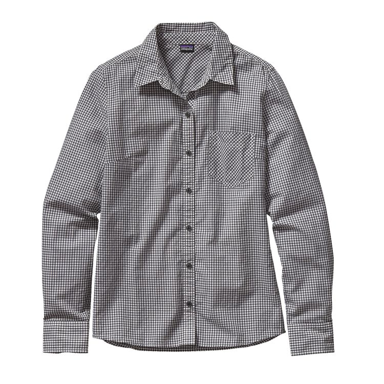 W'S L/S BROOKGREEN SHIRT, Mini Rilay: Forge Grey (MRYF)