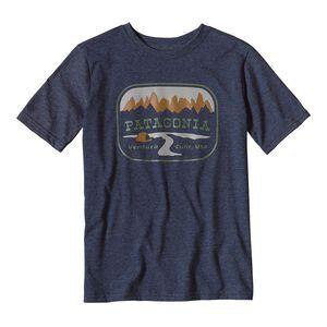 ボーイズ・ポインテッド・ウエスト・コットン/ポリ・Tシャツ, Navy Blue (NVYB)