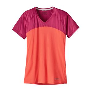 W's Short-Sleeved Windchaser Shirt, Carve Coral (CRVC)