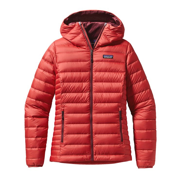 W'S DOWN SWEATER HOODY, Sumac Red (SUMR)