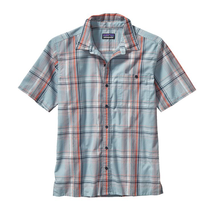 M'S PUCKERWARE SHIRT, Ventana: Tubular Blue (VETB)