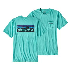 M's P-6 Logo Cotton Pocket T-Shirt, Strait Blue (STRB)