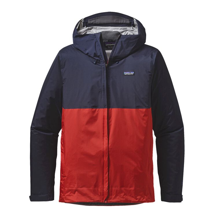 M'S TORRENTSHELL JKT, Navy Blue w/Ramble Red (NBRR)
