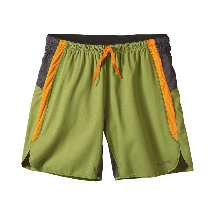 M'S STRIDER PRO SHORTS - 7 IN., Tumalo Grid: Supply Green (TGSP)