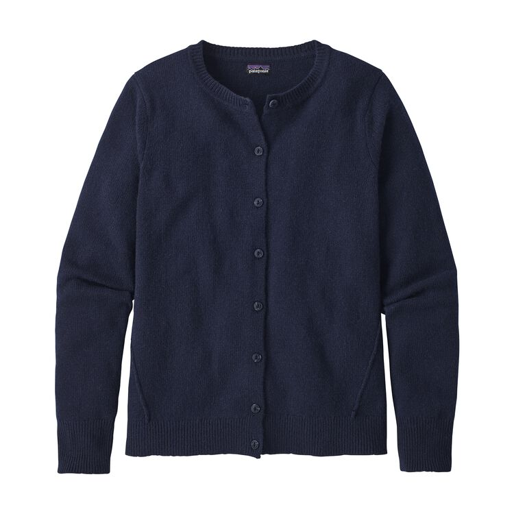 W'S RECYCLED CASHMERE CARDIGAN, Navy Blue (NVYB)