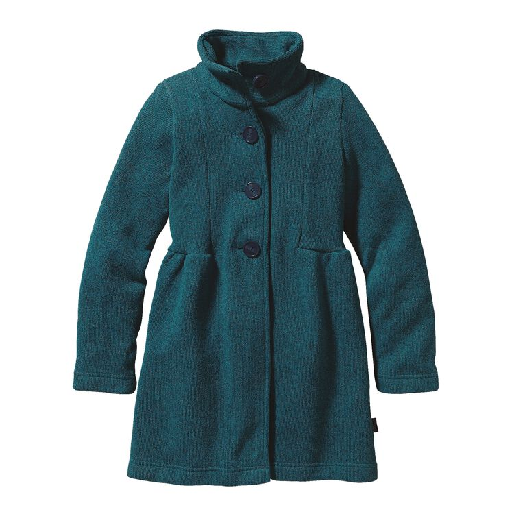 GIRLS' BETTER SWEATER COAT, Deep Sea Blue (DSE)