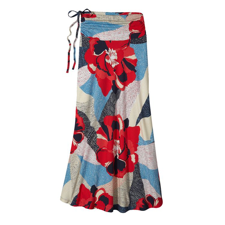W'S KAMALA MAXI SKIRT, Hibiscus Field: French Red (HBFH)