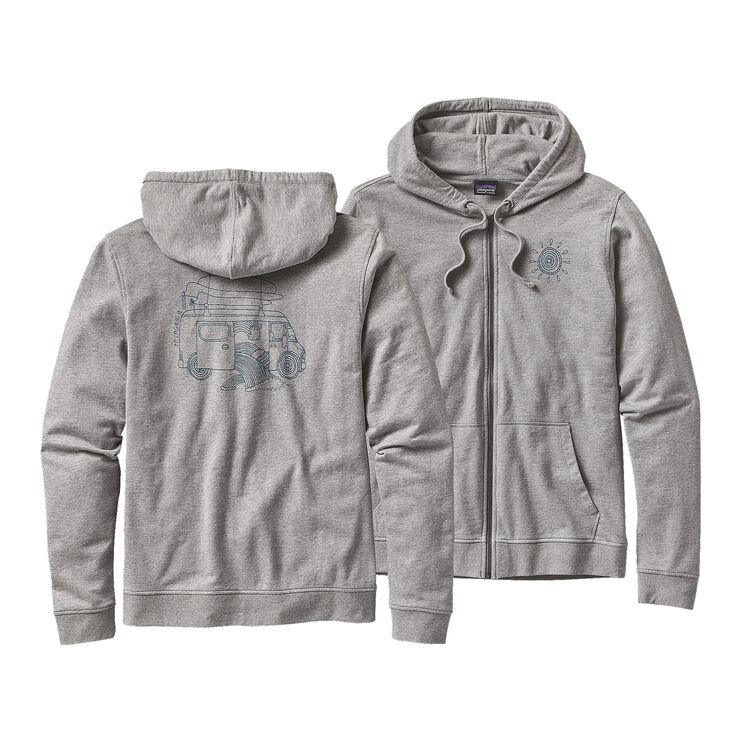 M'S SURF VAN LW FULL-ZIP HOODED SWEATSHI, Feather Grey (FEA)