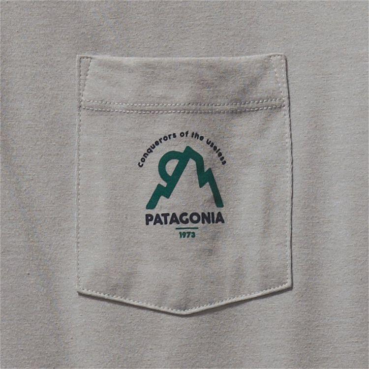 メンズ・ムーンセット・コットン/ポリ・ポケット・Tシャツ,