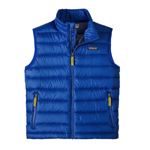 Boys' Down Sweater Vest, Viking Blue (VIK)