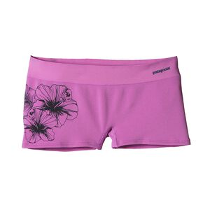 W's Active Mesh Boy Shorts, Waterflower Graphic: Mock Purple (WFMP)