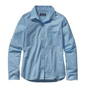 ウィメンズ・ロングスリーブ・アイランド・ホッパーII・シャツ, Dusty: Lite Electron Blue (DLEB)