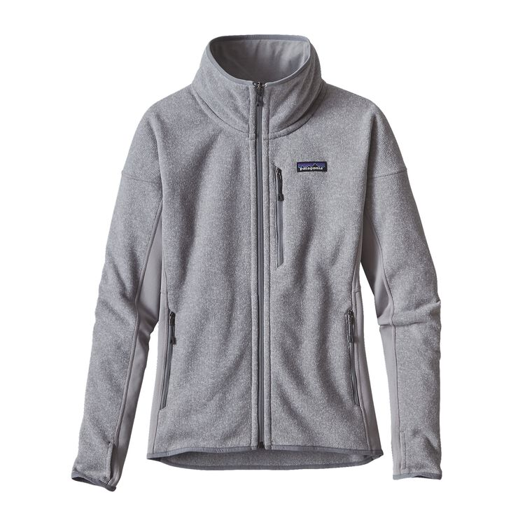 W'S PERFORMANCE BETTER SWEATER JKT, Drifter Grey (DFTG)