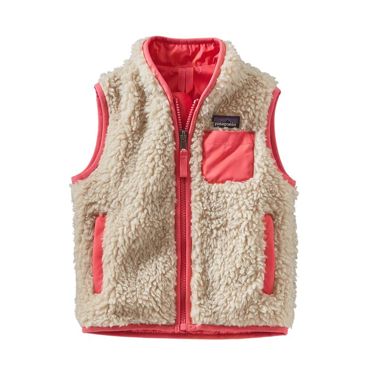 BABY RETRO-X VEST, Natural w/Indy Pink (NAIP)