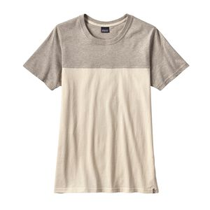 W's Clean Color Block Tee, Clean Camellia White (CMLW)
