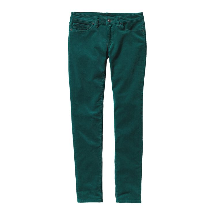 W'S FITTED CORDUROY PANTS, Arbor Green (ABRG)