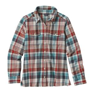 W's Long-Sleeved Fjord Flannel Shirt, Bay Laurel: Toasted White (BLTW)