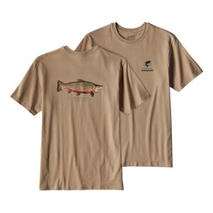 メンズ・ワールド・トラウト・リオ・ティグレ・コットン・Tシャツ, Mojave Khaki (MJVK)