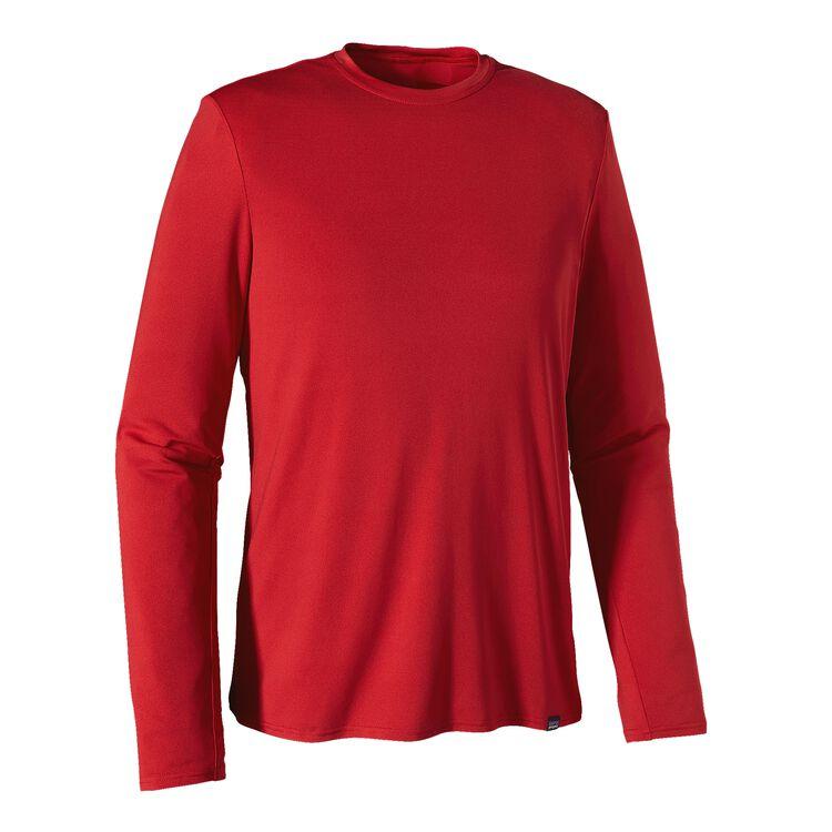 メンズ・ロングスリーブ・キャプリーン・デイリー・Tシャツ, Classic Red (CSRD)