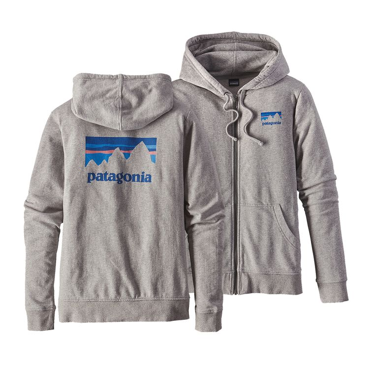 W'S SHOP STICKER LW FULL-ZIP HOODY, Feather Grey (FEA)