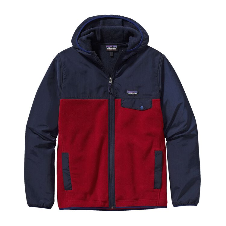 M'S SHELLED SYNCH SNAP-T HOODY, Classic Red w/Navy Blue (CRNV)